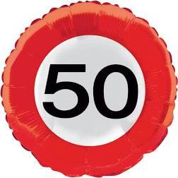 Folieballon - Verkeersbord 50