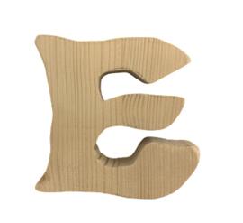 Houten letter E