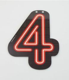 Neon Cijfer - 4