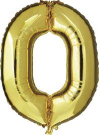 Folie Ballonnen - 0 Goud