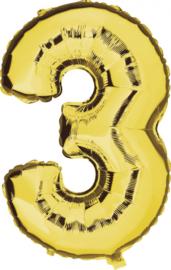 Folie Ballonnen - 3 Goud