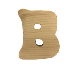 Houten letter B