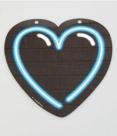 Neon Symbool - Hart Blauw