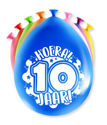 Assorti Ballon - 10 Jaar