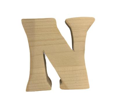 Houten letter N