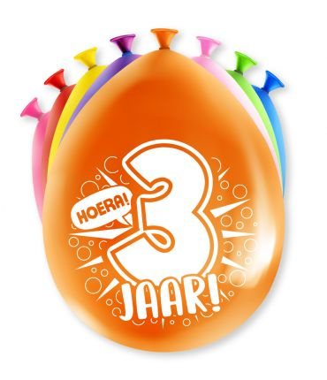 Assorti Ballon - 3 Jaar