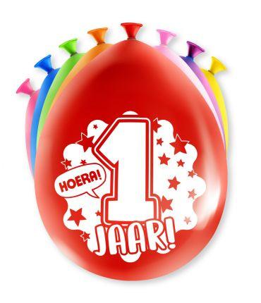 Assorti Ballon - 1 Jaar