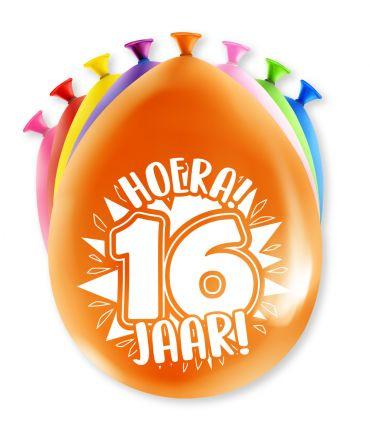 Assorti Ballon - 16 Jaar