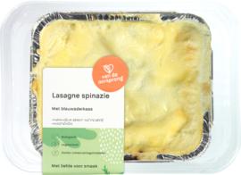 Bio Spinazie-lasagna met blauwader-kaas