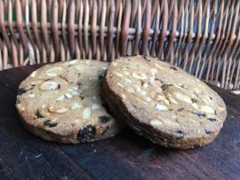 Bio Allemans-Speltkoek groot (koek met bio gemengde noten, bio rozijnen, bio cranberry's)