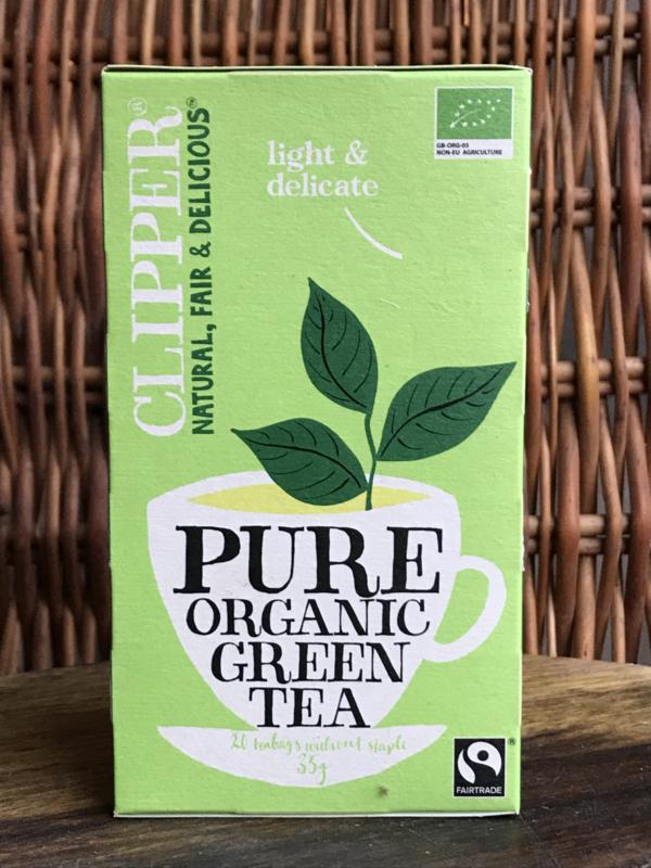Bio thee Pure groene thee (20 stuks) Clipper