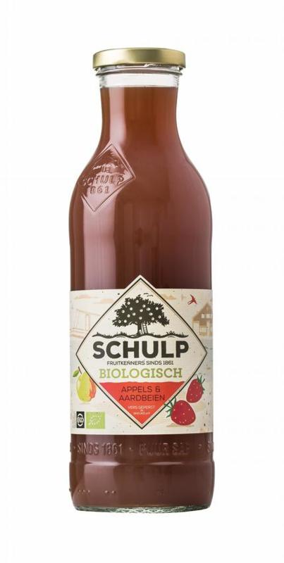 Bio Appel-aardbeiensap van Schulp