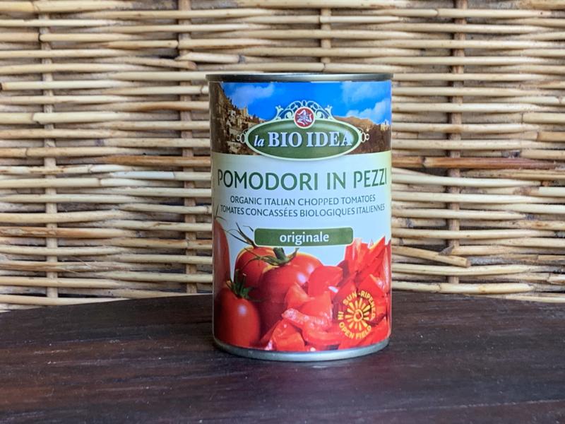 Bio Tomatenstukjes (blikje 400 gram)