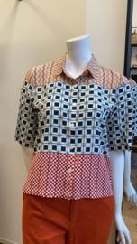 Geometrical Patch Print Shirt van Nice Things