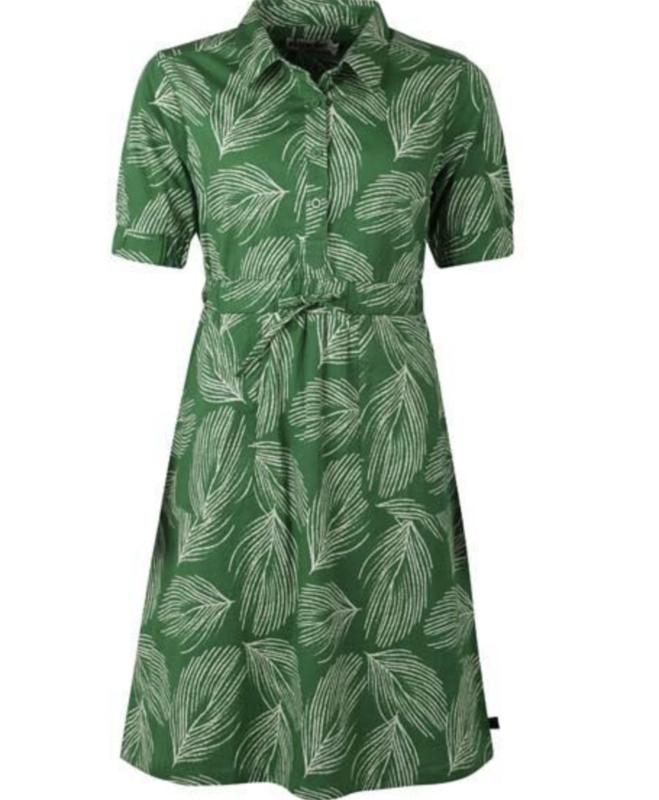 Susanne Dress Green/Chalk van Danefae