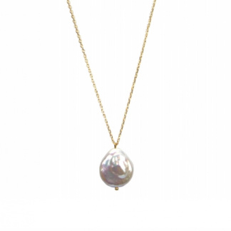 Zoetwaterparel Goldplated chain van Hultquist