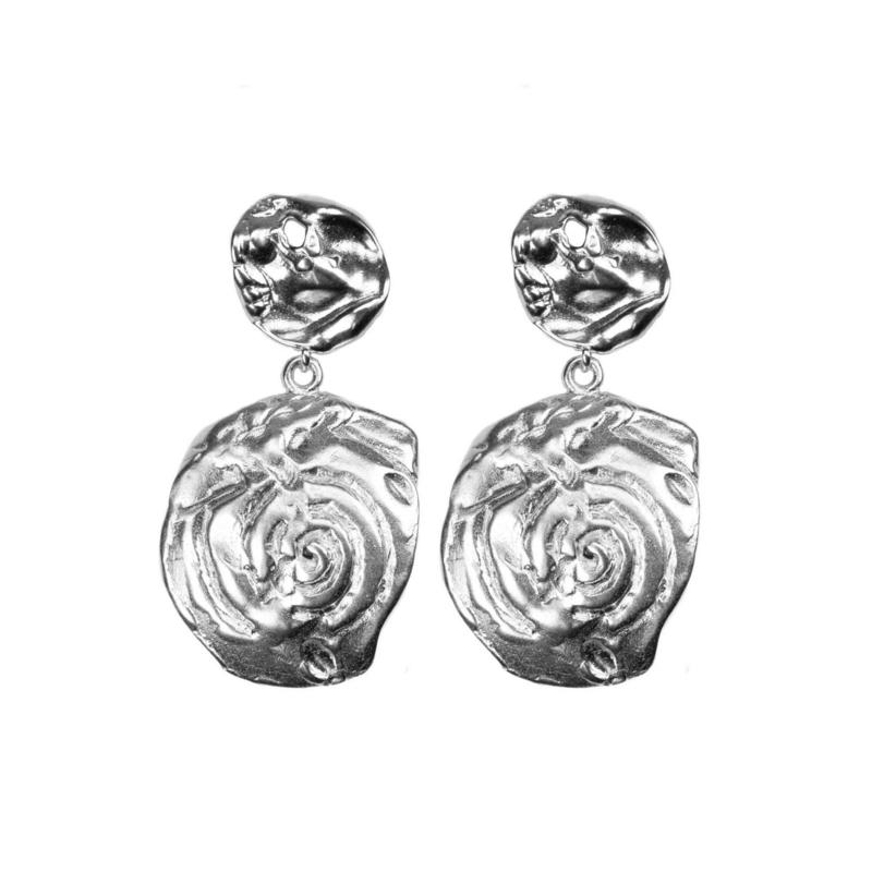 Earring Silverplated van Hultquist