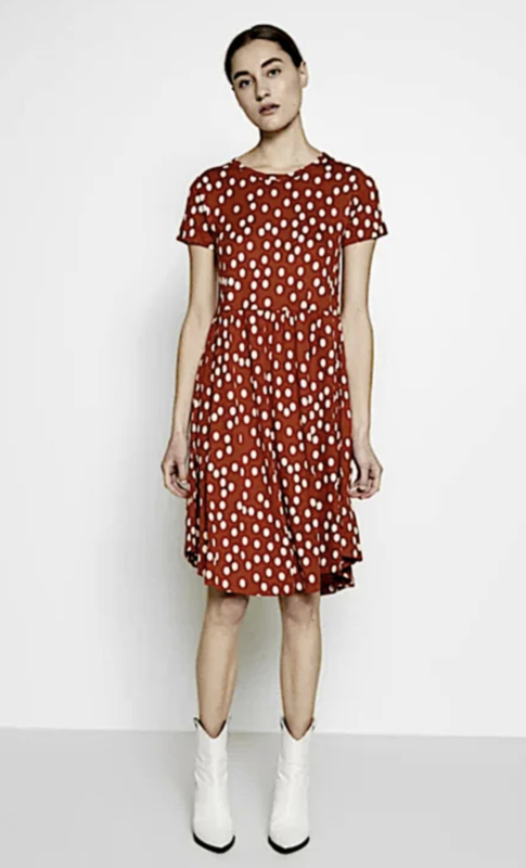 Nielsen Dress Sienna/Chalk van Danefae