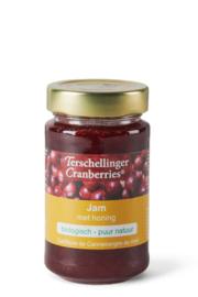 Biologische cranberry jam met honing