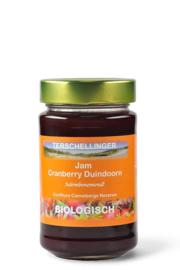 Biologische cranberry jam met duindoorn