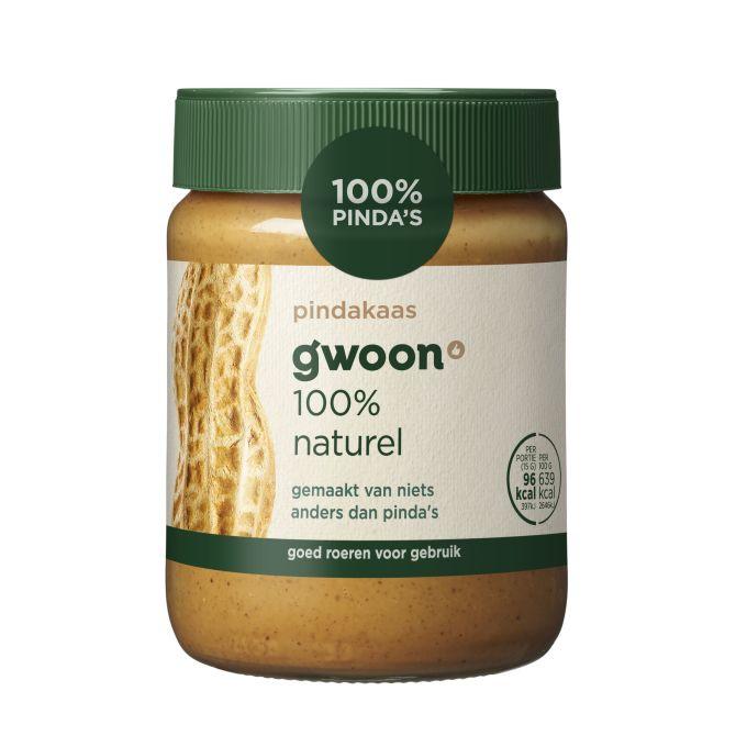 g'woon Pindakaas 100% naturel