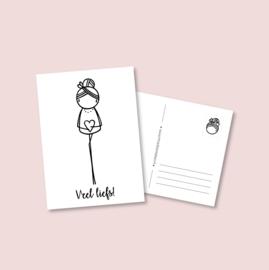 Postkaart - Veel liefs (5 stuks)