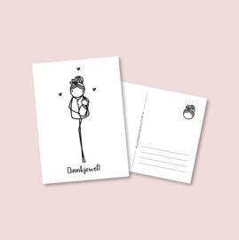 Postkaart - Kraamverzorgster (5 stuks)