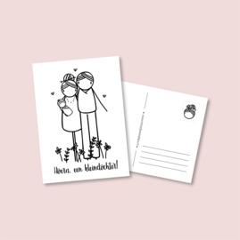 Postkaart  - Hoera, een kleindochter! (5 stuks)