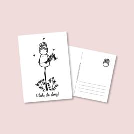 Postkaart - Pluk de dag (5 stuks)