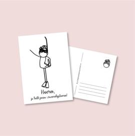 Postkaart - Zwemdiploma meisje (5 stuks)