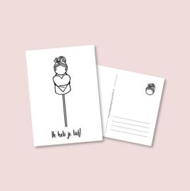 Postkaart  - Ik heb je lief! (5 stuks)