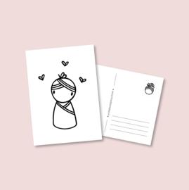 Postkaart - Baby meisje (5 stuks)