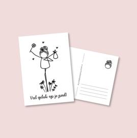 Postkaart - Geluk op je pad (5 stuks)