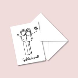 Dubbele kaart - Huwelijk (5 stuks)