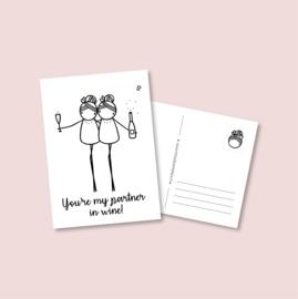 Postkaart - You're my partner in wine (5 stuks)