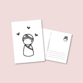 Postkaart - Baby jongen (5 stuks)