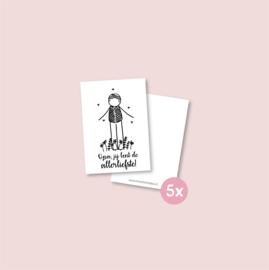 Set van 5 minikaartjes - Allerliefste opa (5 setjes)