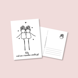 Postkaart - Vriendinnen (5 stuks)