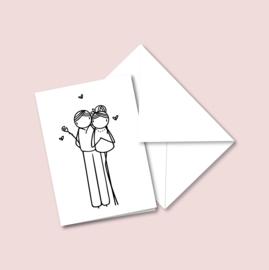 Dubbele kaart - Valentijn (5 stuks)