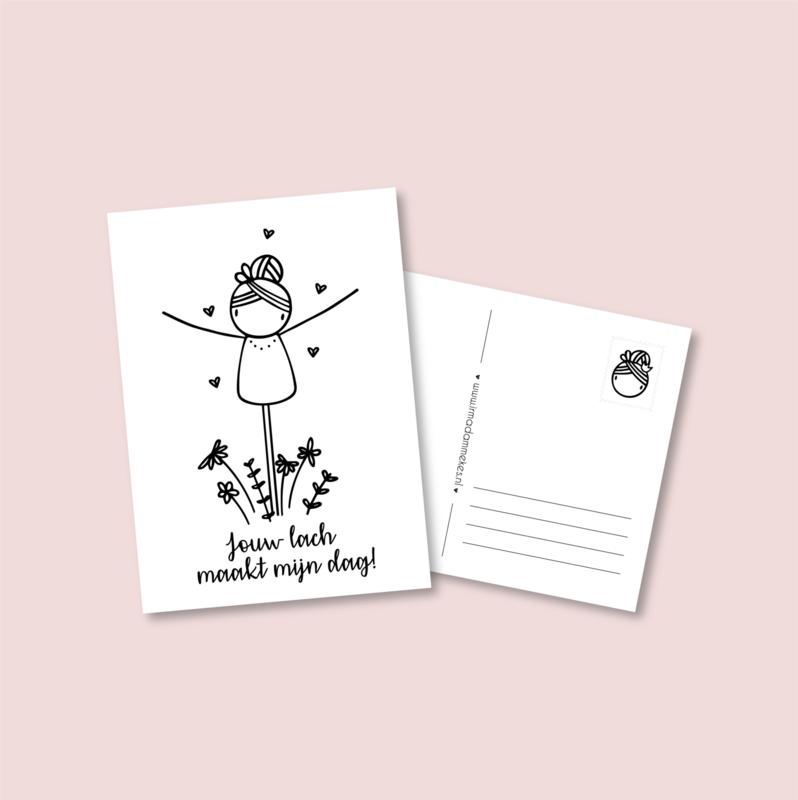 Postkaart - Jouw lach (5 stuks)
