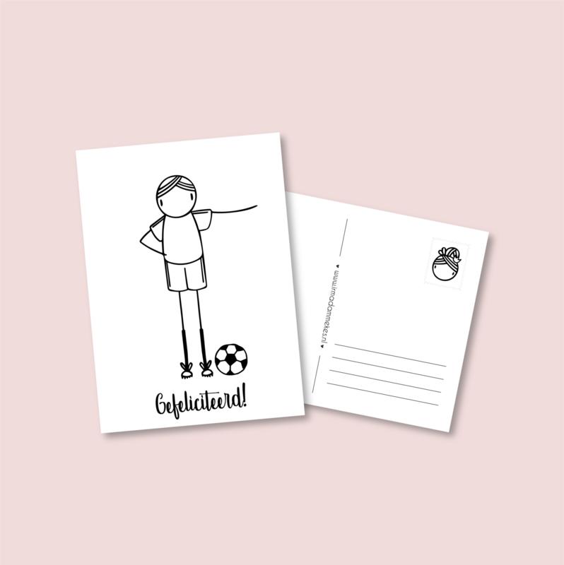 Postkaart - Voetbal jongen (5 stuks)