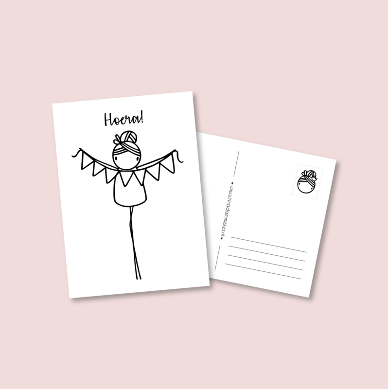 Postkaart - Hoera! (5 stuks)