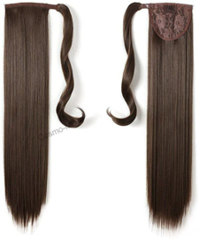 Wrap Around Ponytail  (Steil) 55cm (Synthetisch haar), kleur - Chestnut Brown - 8