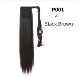 Wrap Around Ponytail  (Steil) 55cm (Synthetisch haar), kleur - Black Brown - 4