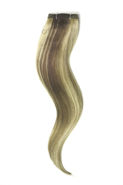 Weave Extensions (steil) 50cm (110gram) - Kleur (#9/613) Ash Brown/Bleach Blonde Mix