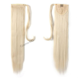Wrap Around Ponytail  (Steil) 55cm (Synthetisch haar), kleur - White Blonde - 60