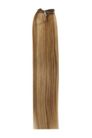 Weave Extensions (steil) 50cm (110gram)- Kleur (#6/27) Light Brown/Ginger Blonde Mix