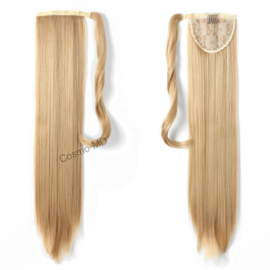 Wrap Around Ponytail  (Steil) 55cm (Synthetisch haar), kleur - Dark Blond/ Light Blond - 27/613