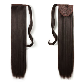 Wrap Around Ponytail  (Steil) 55cm (Synthetisch haar), kleur - Dark Brown - 6