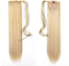 Wrap Around Ponytail  (Steil) 55cm (Synthetisch haar), kleur - Light Blonde - 613